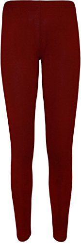 Unknown - Legging - Skinny - Femme Multicolore Bigarré Taille Unique Rouge - Bordeaux