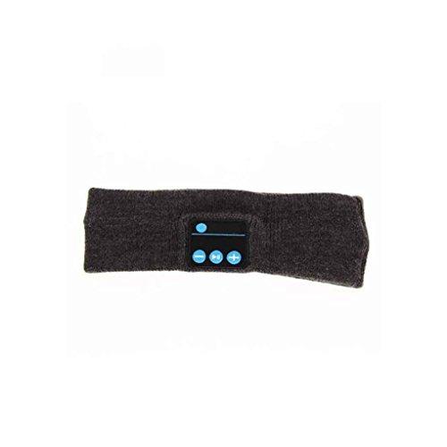 Nowear Unisex Sport Stirnband Wireless Bluetooth Headset Stereo-Kopfhörer mit Mikrofon Schlaf-Kopfstück (Mikrofon Mit Wireless-stirnband)