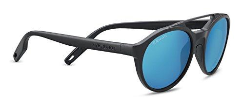 Serengeti Eyewear Erwachsene Leandro Sonnenbrille, Satin Dark Gray, Medium