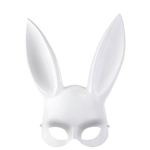 QincLing Damen PVC Hasen Ohren Party Masquerade Maske Halloween Maske