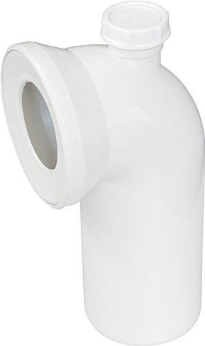 Sanitop-Wingenroth 21642 5 Anschlussbogen für Stand WC | Weiß | 90 Grad | Mit zusätzlichem Anschluss 40 mm | WC, Toilette