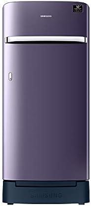 Samsung 198 L 4 Star Inverter Direct-Cool Single Door Refrigerator (RR21A2H2XUT/HL, Pebble Blue, Base Stand wi