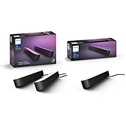 Philips Hue Play Colour Wall Entertainment Light, Double Pack with Extension Kit, Black