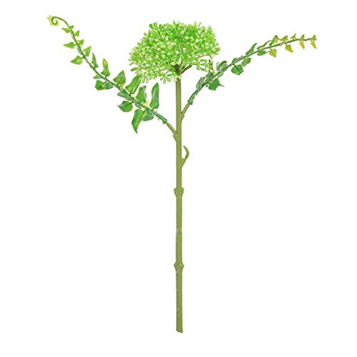 qiwounve 1 stück künstliche Blume Foto Prop DIY Handwerk Hochzeit Home floral Desktop Decor Weiß Grün