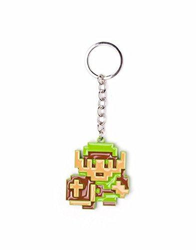 Bioworld  Zelda - 8-Bit Link - Metall Schlüsselanhänger