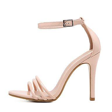 LvYuan Da donna Sandali PU (Poliuretano) Estate Fibbia A stiletto Nero Rosa Chiaro 10 - 12 cm light pink
