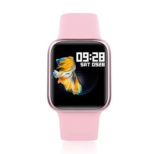 Hffan Smartwatch, Fitness Armband Wasserdicht Sport Uhr mit Blutdruckmessung, Pulsuhren, Schrittzähler, Kalorienzähler, Screen Bluetooth Smart Watch für Damen Aktivitäts Tracker