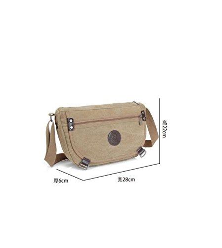 MYLL Unisex Canvas Shoulder Bag Messenger Studenti Pouch Black
