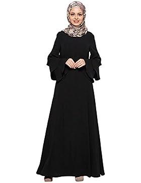 Deylaying musulmano Malaysia Donne Manica lunga Kaftan islamico Middle East Arab Turkey Abbigliamento Maxi Vestito...