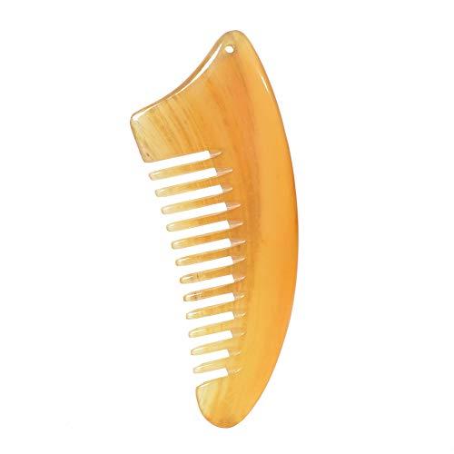 Ruikey Peigne à Cheveux Antistatique en Plastique à Dents Larges Peigne Corne Cheveux Femme