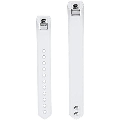 COOSA Fitbit Alta inteligente reloj de la aptitud clásico accesorio de la venda, silicona reemplazo banda,pulsera, Correa, 1-13 pcs, opcional multi-color, pequeño y gran tamaño, varios combinación ( con metal corchete gratis) (blanco,