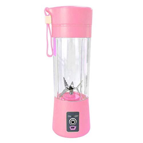 sxsuperbOniu, licuadora portátil, Licuadora portátil de 400 ml Mezclador de botella de taza de jugo de frutas y verduras recargable USB - Rosa para Hogar, cocina