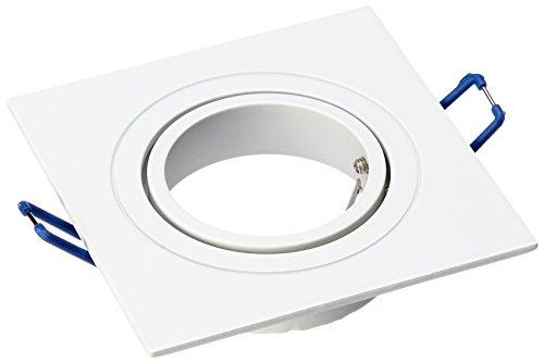 EcoLuz LED Syn Foco de Superficie de Yeso GU10, Blanco, 16.7 x...