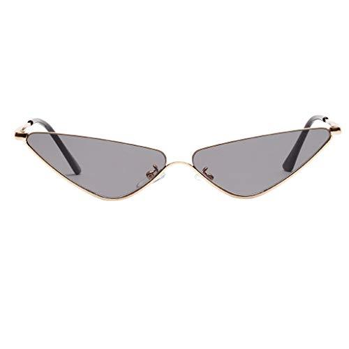 Makefortune Frauen Sonnenbrillen, Frauen-Weinlese-Katzenaugen-Sonnenbrille-Retro- kleiner Rahmen UV418 Eyewear arbeiten Damen-Gläser um …