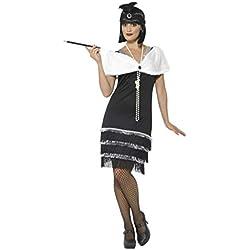 Smiffy'S 43128L Disfraz De Años 20 Con Vestido, Diadema YEstola De Pelo, Negro, L - Eu Tamaño 44-46