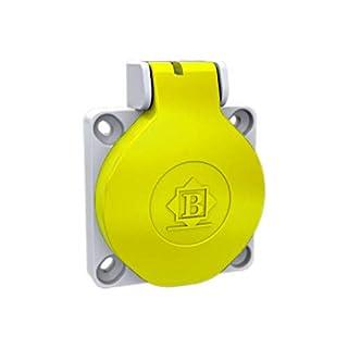 AW-TOOLS Anschluss-Steckdose Schalttafelsteckdose Anschlussgerätesteckdose gelb 16A 250V 3-polig IP44 gerade