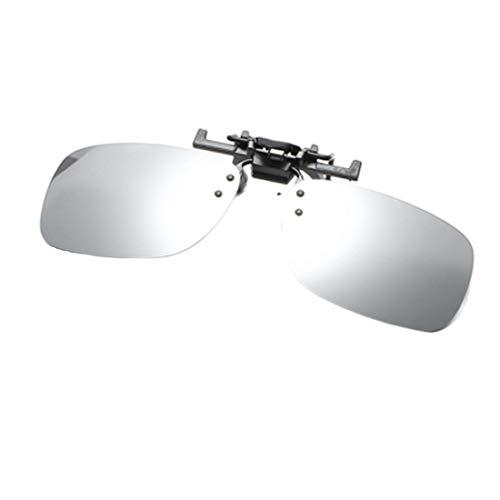 Inlefen Polarisierte Sonnenbrille Aufsteckbare Sonnenbrille mit Flip-Cap-Funktion Blendfreie UV 400-Schutzbrille Aufsteckbare Korrekturbrille(Quecksilber)