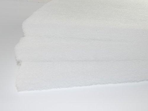 G3 Universal Filter ca. 1 m x 1m - Dicke ca. 5 cm Vliesmatte Vorfilter ca. 400g/m² Progressiv Aufgebaut