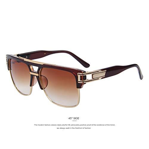 WWVAVA Sonnenbrillen Herren Luxus Marken Sonnenbrillen Vintage Oversize Square Sonnenbrille Damen Sonnenbrille, c2