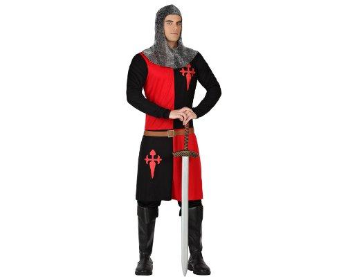 Kostüme Schwarze Erwachsene Ritter (Atosa 18320 - Ritter Kostüm, Größe M-L,)