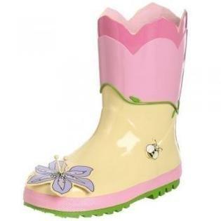 Kidorable, Stivali bambini rosa Lotus 4 UK
