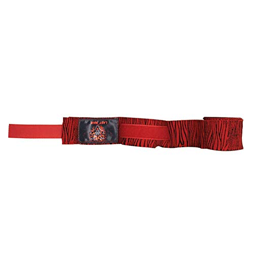 PROKTH 5M Cinturón de Boxeo Deportivo Unisex Poliéster Patrón de Cebra Venda Sanda Muay Thai, Taekwondo Correa de Guante Banda de Pulgar Cómodo y Transpirable 1pcs