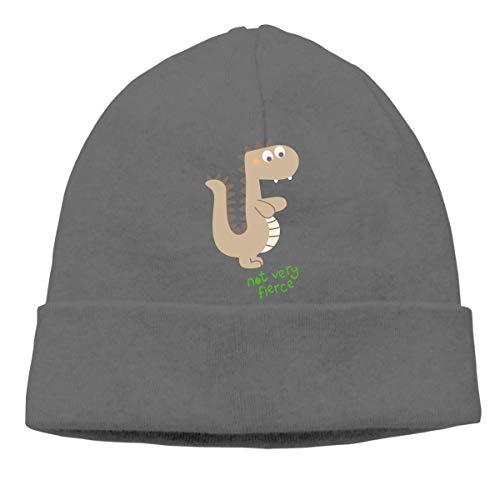 fa1daece5f1c Not Very Fierce Dinosaur Warm Stretchy Solid Daily Skull Cap Knit Wool  Beanie Hat Outdoor Winter