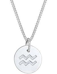 Elli Damen Echtschmuck Halskette Silberkette Kette mit Anhänger Stern Star  Sternzeichen Astro Trend Swarovski Kristalle Sterling 4ab13ecd0f