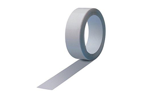 Maul Ferroband, Selbstklebende Magnethaft-Wandleiste aus Stahlblech, Größe 500 cm x 3,5 cm, Weiß