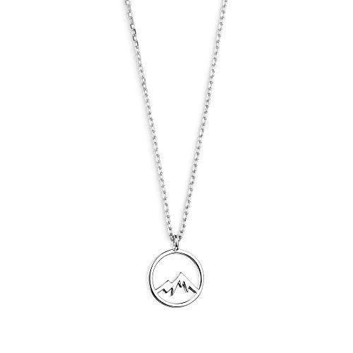 Xenox Damen-Halskette WANDERUST Motiv Berg aus 925er Sterlingsilber