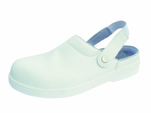Sicherheit Catering Chef Kitched Clog Steel Toecap (7, Weiß) (Chef Clog)