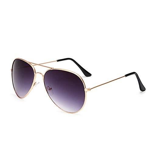 Sport-Sonnenbrillen, Vintage Sonnenbrillen, Pilot Aviation Night Vision Sunglasses Men Women Goggles Glasses UV400 Sun Glasses Driver Night Driving Eyewear Gold-Light Purple 75 Night Vision