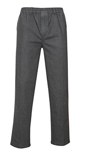 Herren Jeans Stretch Schlupfhose Schlupfjeans ohne Cargo-Taschen-Grau-3XL