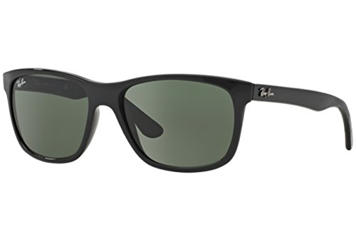Rayban Highstreet Nylon Frame Green Classic Lens Unisex Sunglasses Rb4181