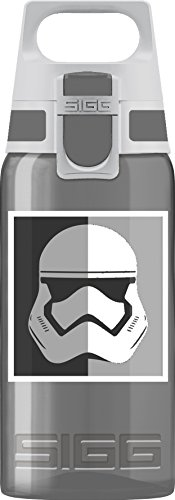 Sigg Jungen Trinkflasche Viva One Star Wars, Kinder Trinkflasche, 0.5 L, Polypropylen, BPA Frei, Dunkel Grau, Schwarz/Dunkel Grau, 0.5 Liter, 8627.7007