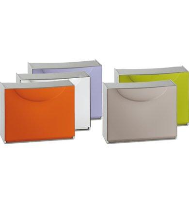 TERRY Contenitore Home Storage Harmony box h tortora / grigio scarpiera L51 x P19 x H39