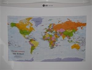 Kühlschrank Karte der Welt
