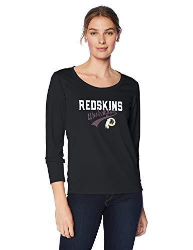 OST NFL Washington Redskins OTS-Langarm-T-Shirt, Schwarz, klein