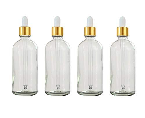 4klar leer Refill ätherisches Öl Glas Flakon Dropper Flasche Gläser mit Weiß Gummi Gap - 30-ml-pump-flasche