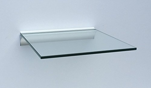 Glasregal Quadrat 30x30 cm klar Glas mit Alu Profil Wandregal Board