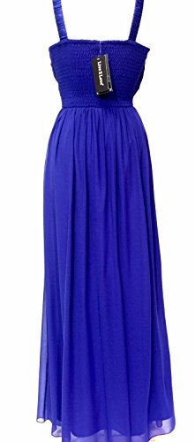 Womens Embelli Robe Maxi Bleu Robe De Soirée Bleu