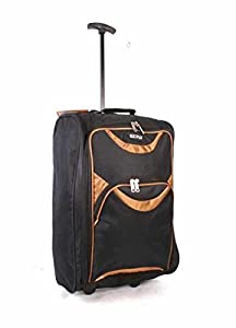 Wheeled Holdall Travel Trolley Cabin Luggage Bag Wheeled Holdall Travel Bag 2 wheel Travel Trolley Suitcase Luggage Holdall Case Cabin Size wheeled bags 17""