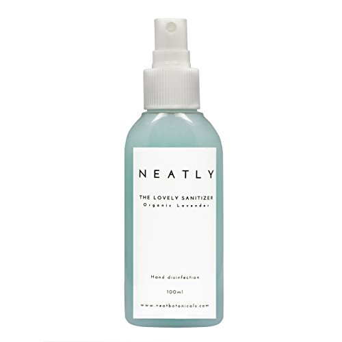 NEATLY, Soin des mains à base de lavande | Désinfectant pour mains et anti bactérien | Spray huile de lavande bio I 100ml | Alternative aux autres gels I Antibactérien biologique et naturel I