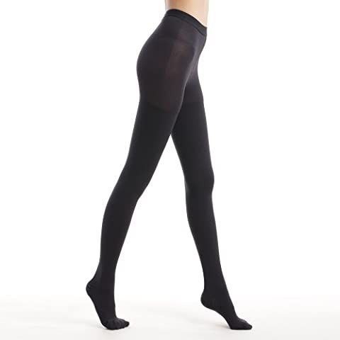Fytto 1026 Women's Compression Pantyhose, 15-20mmHg Support Hosiery, Flight Stockings – Smooth-Knit Professional Support for Business & Travel –