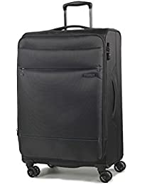 Rock Deluxe-Lite Super Lightweight Expanding Four Wheel Spinner Luggage Black Large