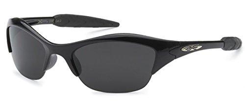 X-Loop Xloop Kind-Kind-Jungen-Mädchen-Sport-Sonnenbrille 1 2 Klein Schwarz