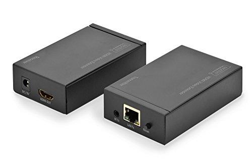 DIGITUS Professional DS-55120 - HDMI Netzwerk-Extender - IP-fähig - bis zu 253 Empfänger - Cat 5e/6 - Set (Sender/Empfänger) - schwarz -