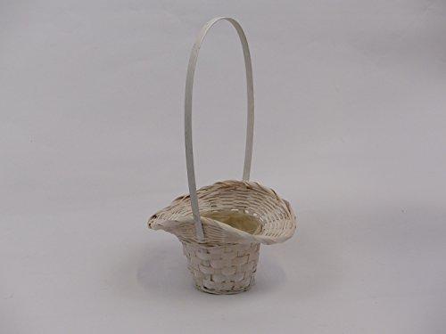 Florentiner Streukörbchen geweißt aus Bambussplitt klein 17,5 x 12,5 x 10,5cm