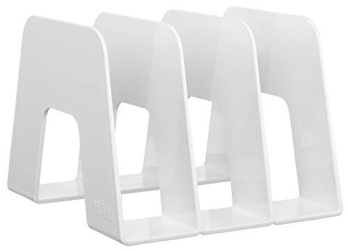 HAN Katalogsammler SORTER 16200-12 in Weiß / Prospekthalter zum Austellen mit 3 Fächern für DIN A4/C4