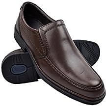 ConBuenPie by BECOOL - modelo 2612 - Zapato Extracomodo de Hombre de Piel en Color Negro (40, Negro)